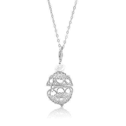 Priesme Change your Style vedhæng i 925 Sterling sølv med plads til stor smuk kugle med Swarovski krystaller