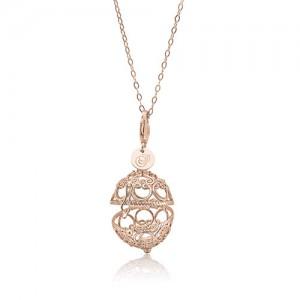 Priesme Change your Style vedhæng i rosa  forgyldt 925 Sterling sølv med plads til stor smuk kugle med Swarovski krystaller