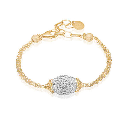 Priesme Brilliant Selection armbånd med klare diamant lignende Swarovski krystaller