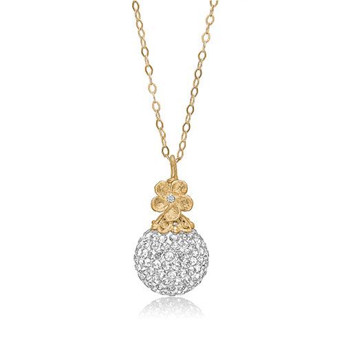 Priesme Brilliant Selection halskæde i forgyldt sølv med smuk kugle