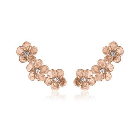 Priesme Classic Boheme ørestikker i rosa forgyldt Sterling sølv