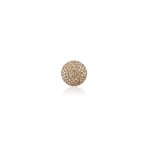 Priesme kugle på 16 mm med guld Swarovski krystaller