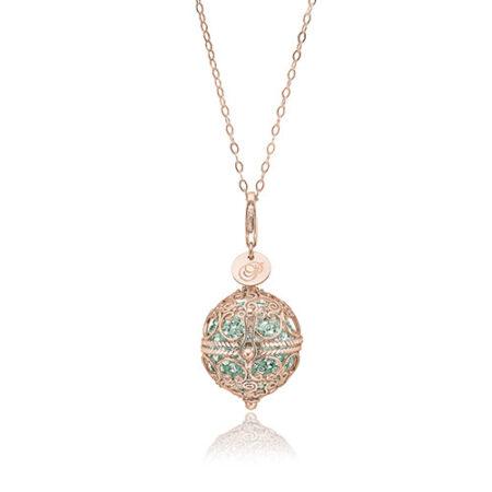 Priesme Change Your Style halskæde i 925 Sterling sølv med mint grønne Swarovski krystaller
