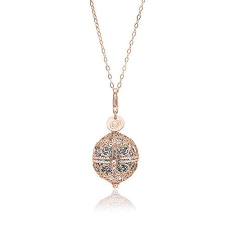 Priesme Change Your Style halskæde i 925 Sterling sølv med grå Swarovski krystaller
