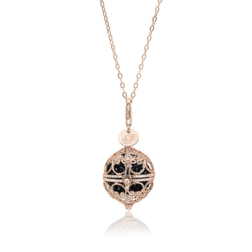 Priesme Change Your Style halskæde i 925 Sterling sølv med sorte Swarovski krystaller