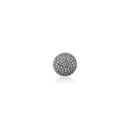 Priesme kugle på 16 mm med grå Swarovski krystaller