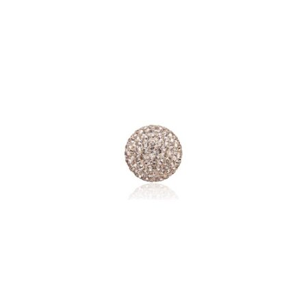 Priesme kugle på 16 mm med pudder farvede Swarovski krystaller