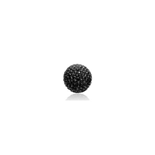 Priesme kugle på 16 mm med sorte Swarovski krystaller