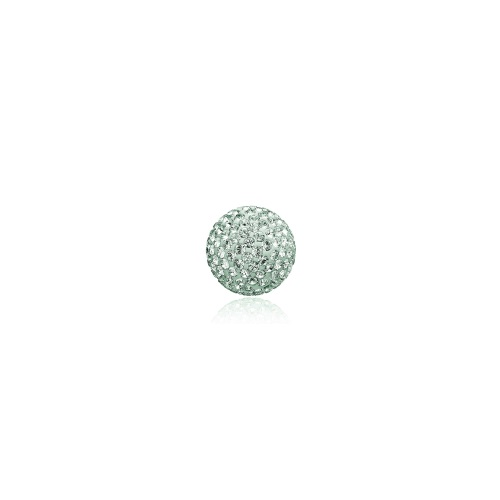 Priesme kugle på 16 mm med mint grønne Swarovski krystaller
