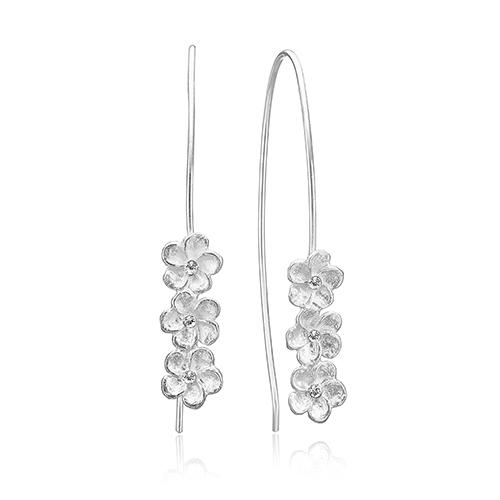 Blomster ørestikker i 925 sterling sølv