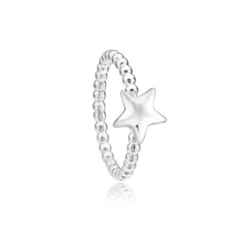 Priesme stjerne ring i 925 Sterling sølv