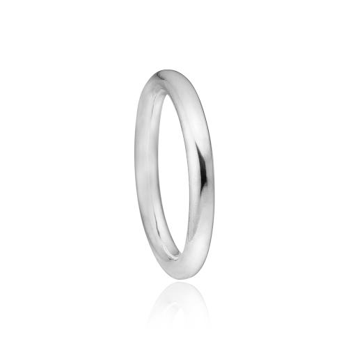 Priesme klassisk sølv ring