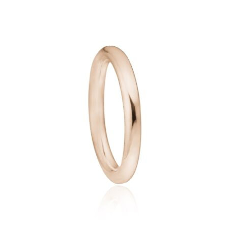 Priesme rosa forgyldt ring