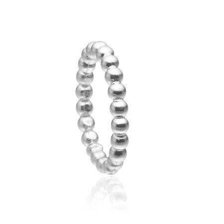 Priesme kugle ring i sølv