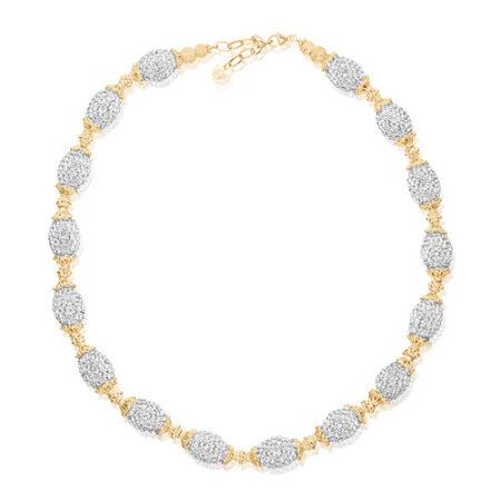 Priesme Brilliant Selection halskæde med 16 ovale Swarovski kugler