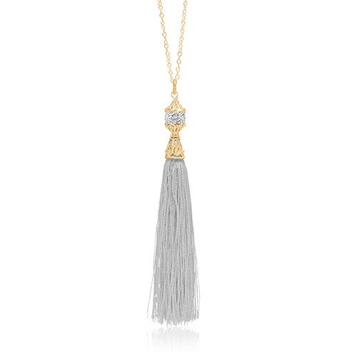 Priesme Brilliant Selection halskæde med silke kvast