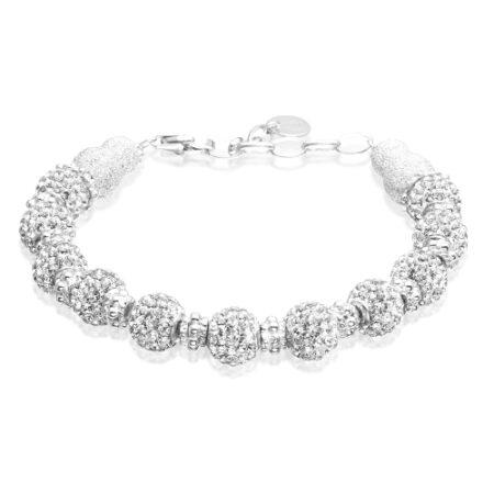 Priesme Blilliant Selection sølv armbånd med klare sten
