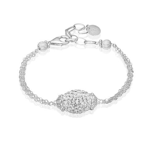 Priesme Sterling sølv armbånd 925 blank sølv