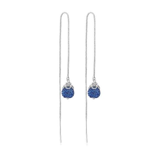 Blå Priesme 925 Sterling sølv øreringe