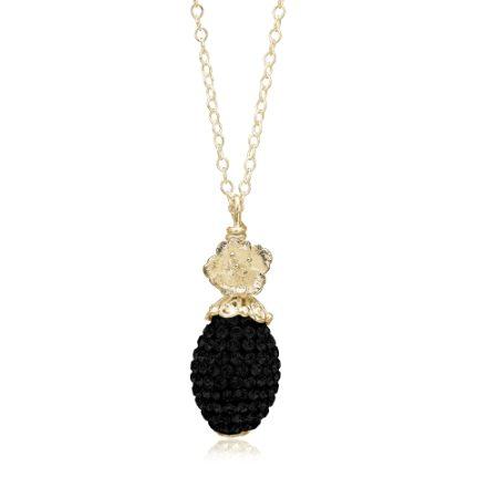 Priesme Black Swan Swarovski smykke halskæde
