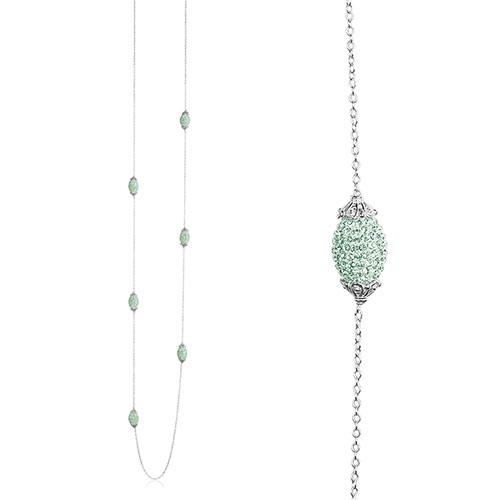 Priesme Swarovski smykke med mintgrønne krystaller