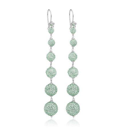Øreringe med mint grønne Swarovski krystaller