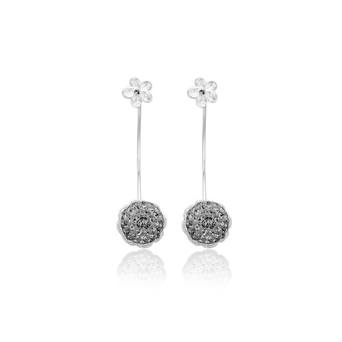 Priesme Grey Diamond øreringe. Halvmåne formede øreringe i sølv