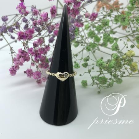 Diamant guld ring formet som hjerte